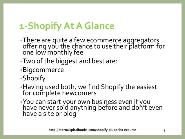 Shopify101 your blueprint to shopify income malvernweather Choice Image