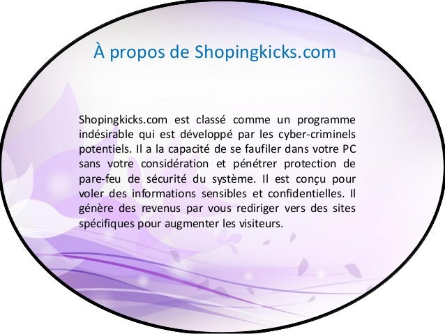 Retirer Shopingkicks.com - Désinstaller complètement Shopingkicks.com Slide 2