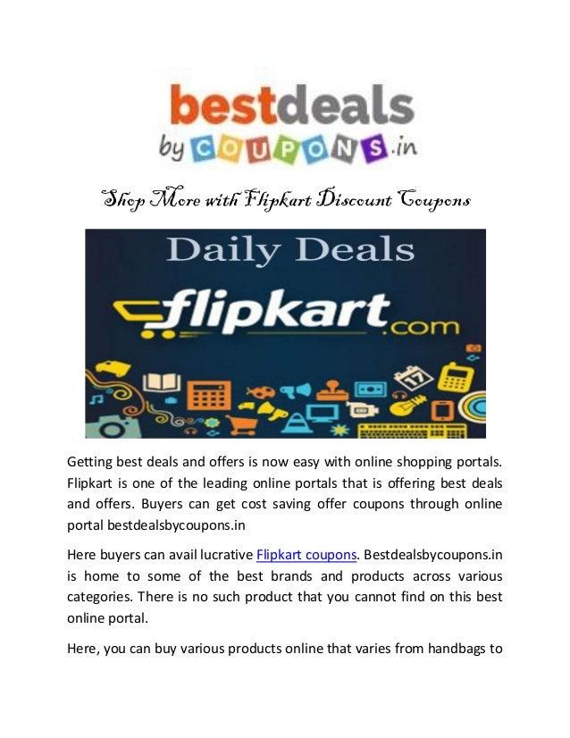 Discount coupons flipkart