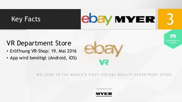 16661378b11 Key Facts 3 VR Department Store • Eröffnung VR-Shop  19. Mai 2016 • App  wird benötigt (Android