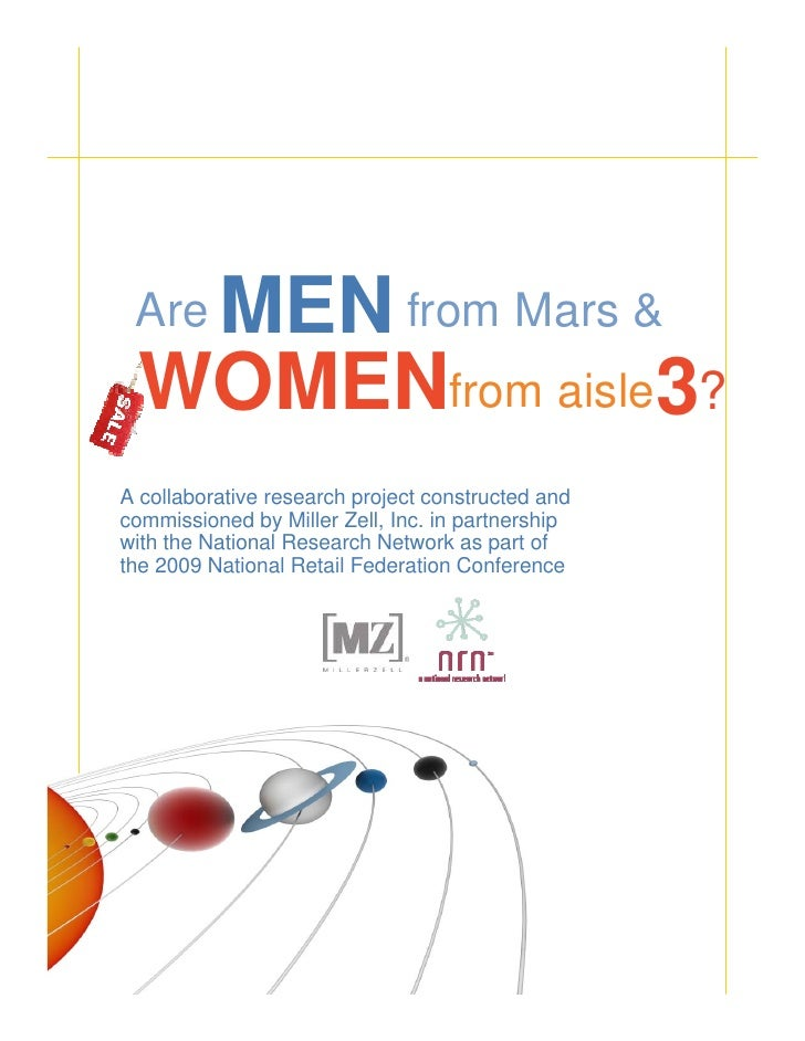 MEN from Mars &         Are          WOMENfrom aisle3?       A collaborative research project constructed and       commis...