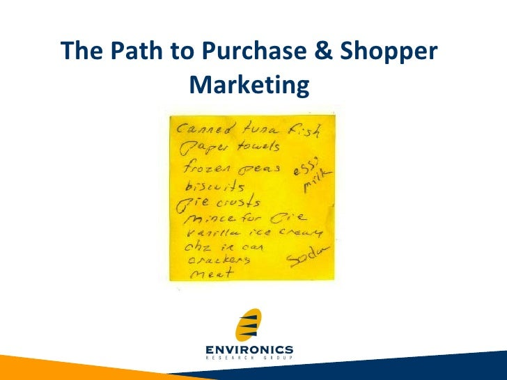 The Path to Purchase & Shopper Marketing