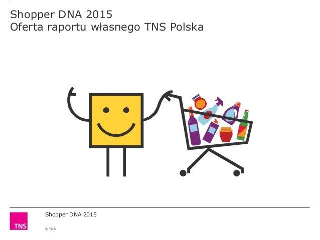 Shopper DNA 2015 © TNS Shopper DNA 2015 Oferta raportu własnego TNS Polska