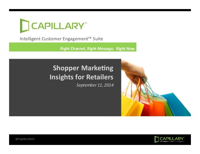 Intelligent  Customer  Engagement™  Suite  Right  Channel,  Right  Message.  Right  Now  Shopper  Marke+ng  Insights  for ...