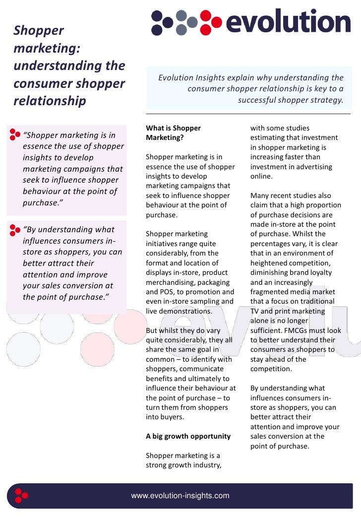 Shopper marketing: understanding the                                      Evolution Insights explain why understanding the...