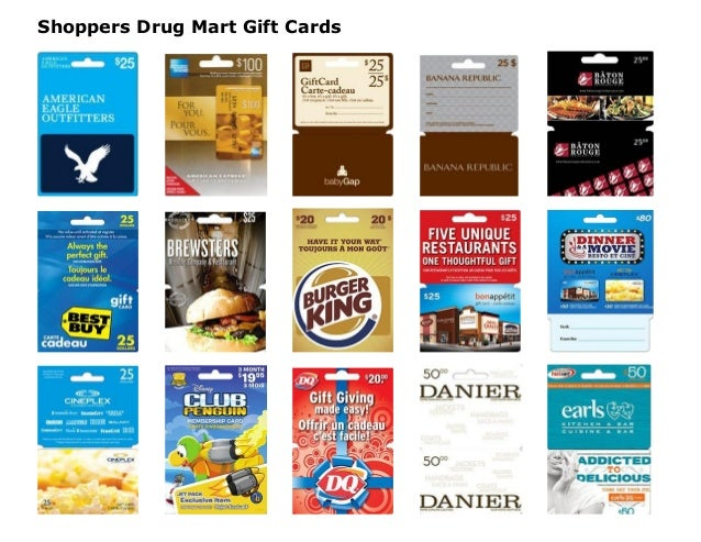 At The Ebates Gift Card Shop, we've curated over 70 retailers including Esso, Shoppers Drug Mart, Loblaw, Indigo, Canadian Tire and more to offer you the best selection of Gift Cards .