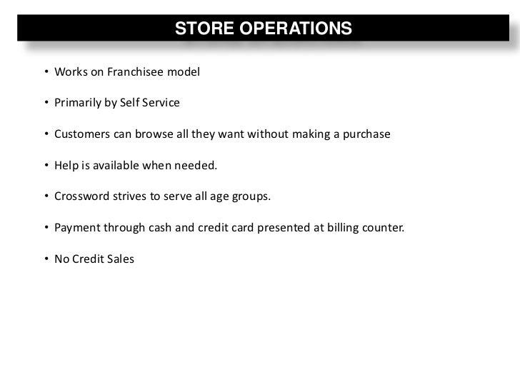 Crossword book store retail analysis