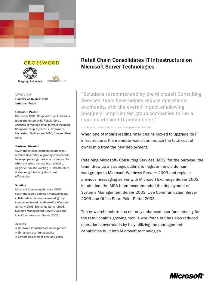 Microsoft Exchange Server 2003                                                 Customer Solution Case Study               ...