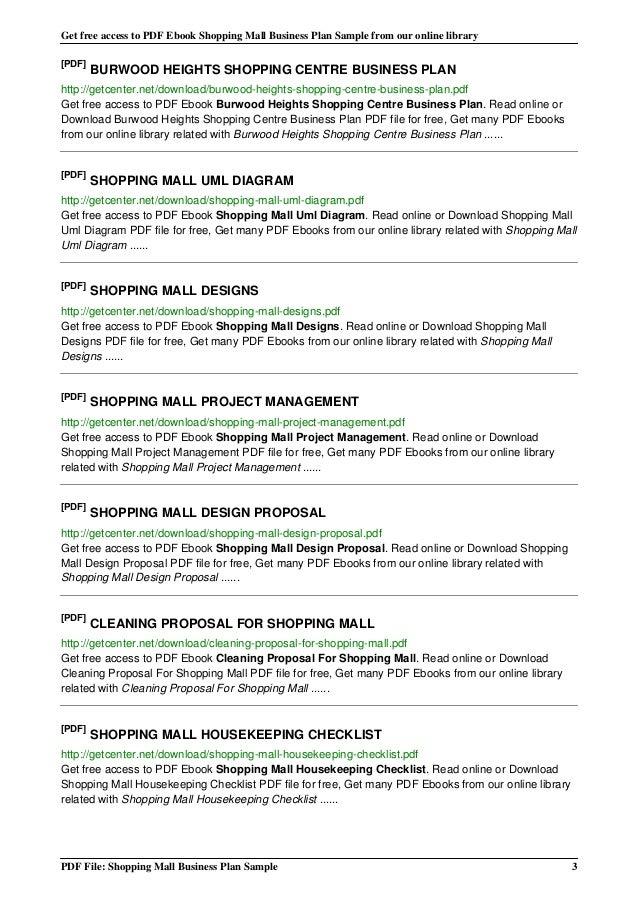 Mall business plan