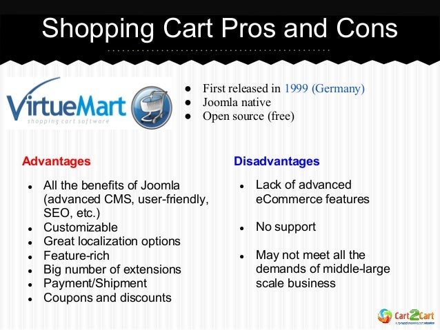 Types Options Pros And Cons: Shopping Cart Types. Pros And Cons