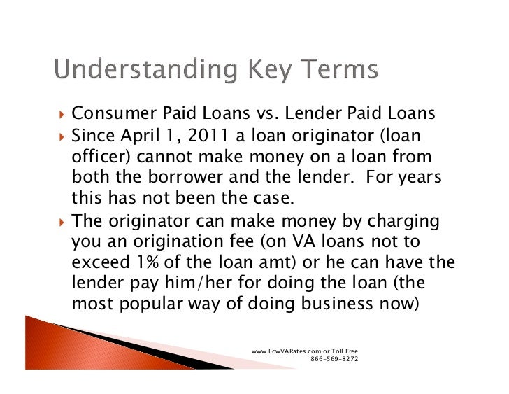 How To Shop For A Low VA Loan Rate Slide 2