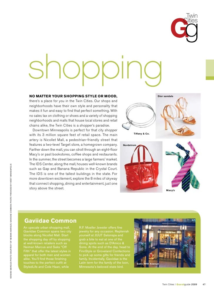 Twin Cities Guest Guide - Shopping Slide 2