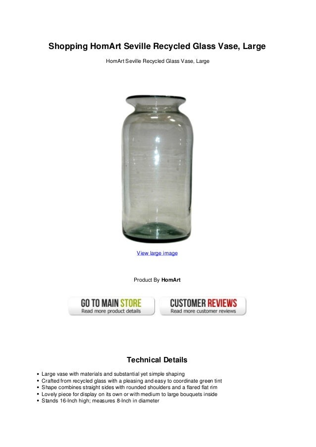 Shopping Hom Art Seville Recycled Glass Vase Large