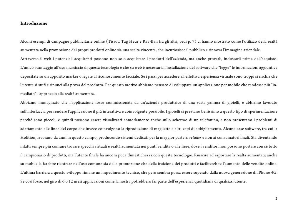 Introduzione   Alcuni esempi di campagne pubblicitarie online (Tissot, Tag Heur e Ray-Ban tra gli altri, vedi p. 7) ci han...
