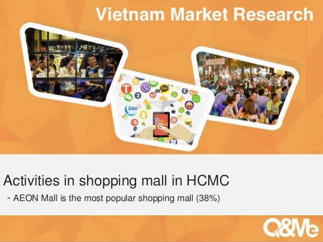 Your sub-title here Activities in shopping mall in HCMC - AEON Mall is the most popular shopping mall (38%)