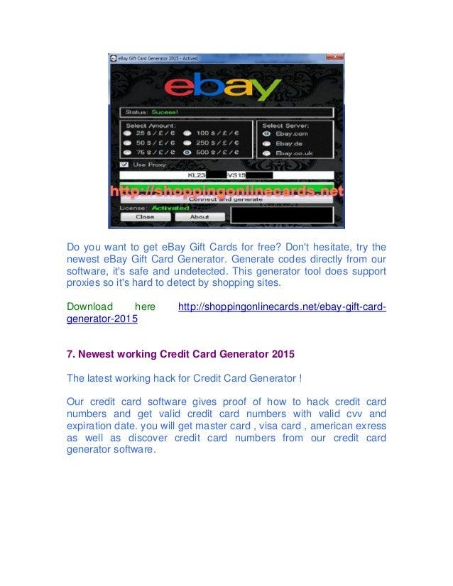Gift download 2015 card ebay generator