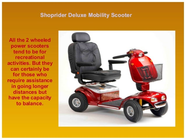 Shoprider Deluxe Mobility Scooter User Manual
