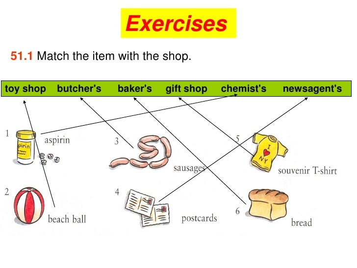 51.4 Write the words for these definitions.  1 a person who sells things in a    shop                                    S...
