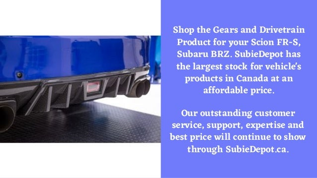 Gears and Drivetrain Product | SubieDepot.ca Slide 2