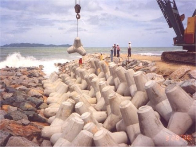 Hard Engineering Measures • Gabions - Gabions are wire cages usually filled with crushed rocks, and then piled up along th...