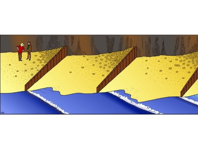 Hard Engineering Measures • Revetment - The most effective type of shore protection - Beach material builds up behind them...