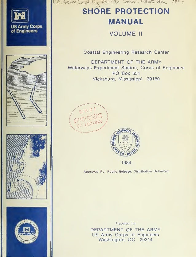 SHORE PROTECTION               MANUAL                            VOLUME             II          Coastal Engineering Resear...