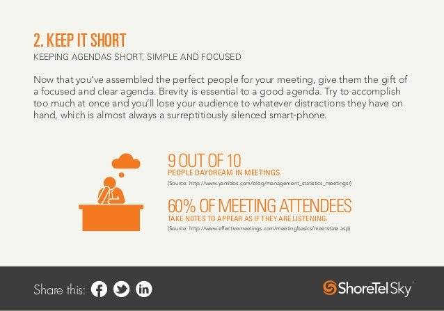 running meetings Regular staff meetings can serve to remind employees that there is more going  on than their  do i have the physical space and materials to run a meeting.