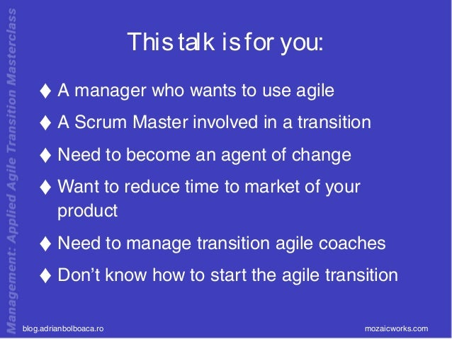 Short Guide to you Agile Transformation Slide 2