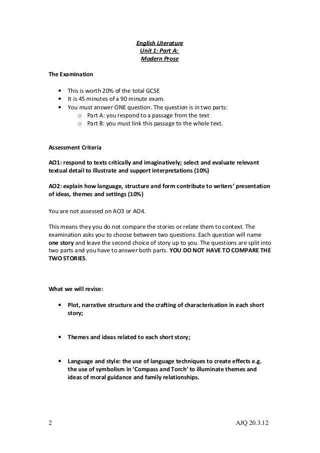 Aqa coursework markscheme