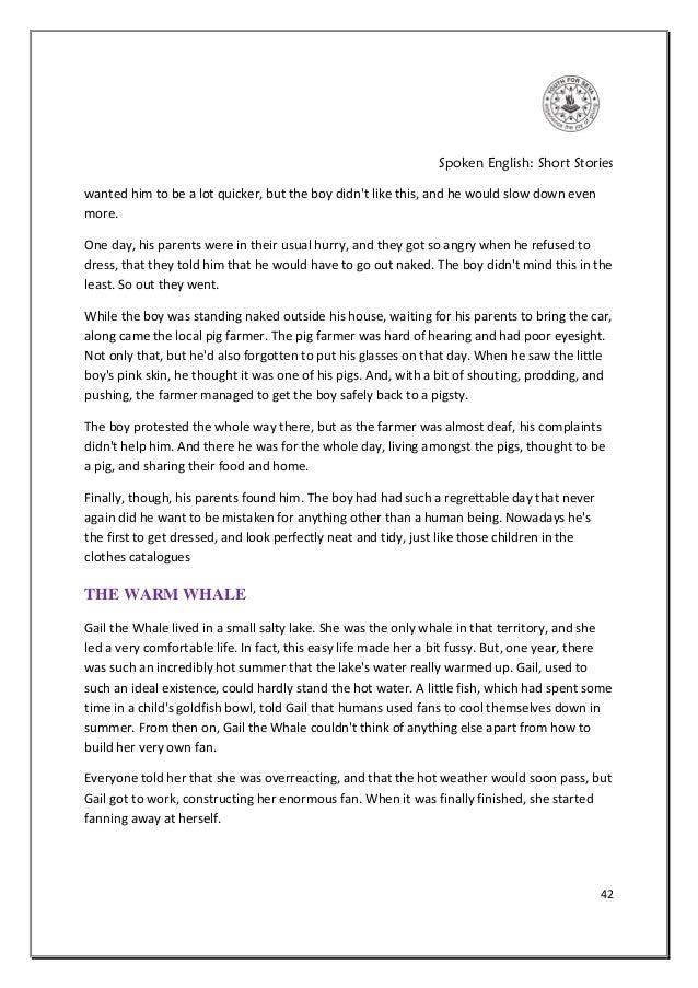 SPOKEN ENGLISH SHORT STORIES PDF