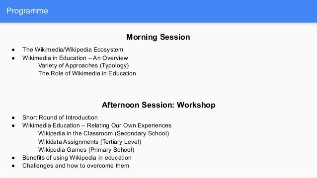 Wikipedia in education - taking stock - OER conference lucerne 2019 Slide 2