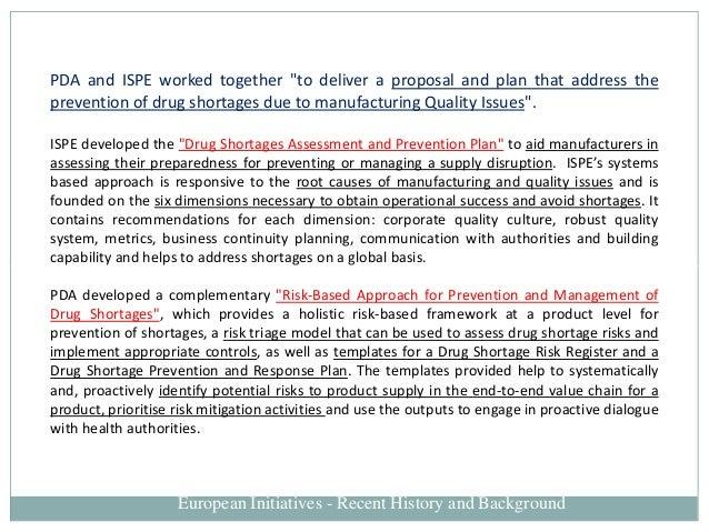 Shortages of medicines originating from manufacturing
