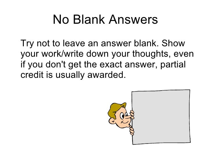 Short answer test tips