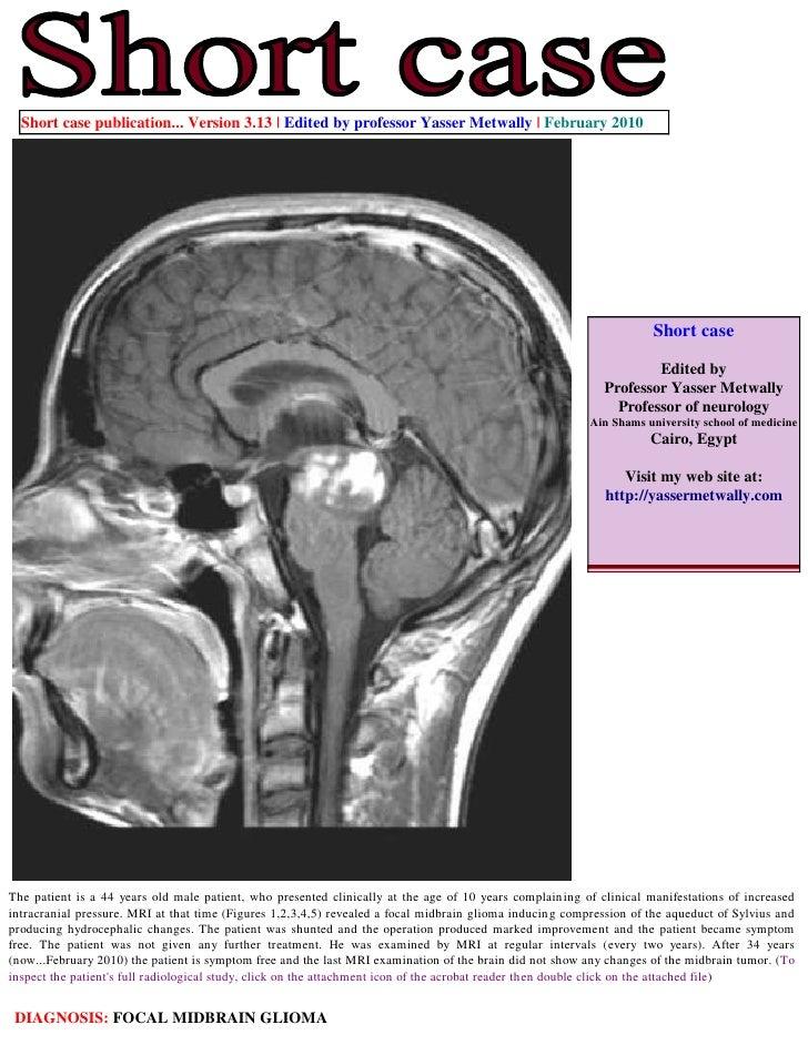 Short case publication... Version 3.13   Edited by professor Yasser Metwally   February 2010                              ...