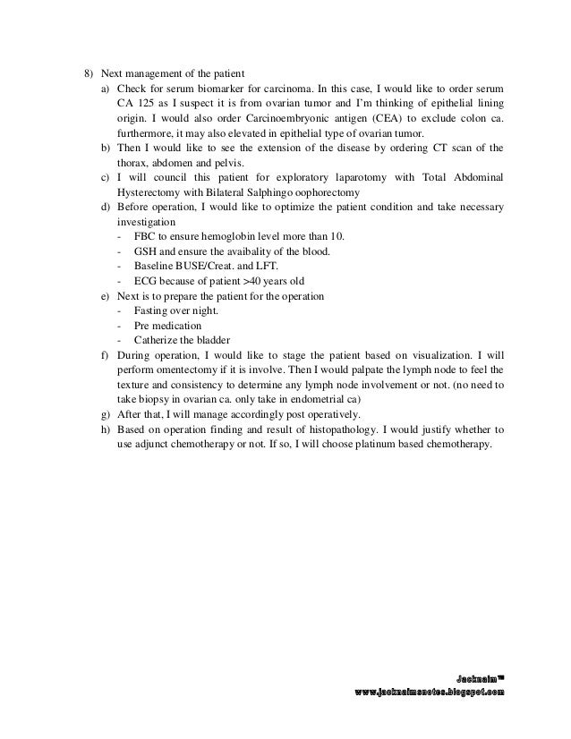 Short case examination pelvic mass-ovarian mass