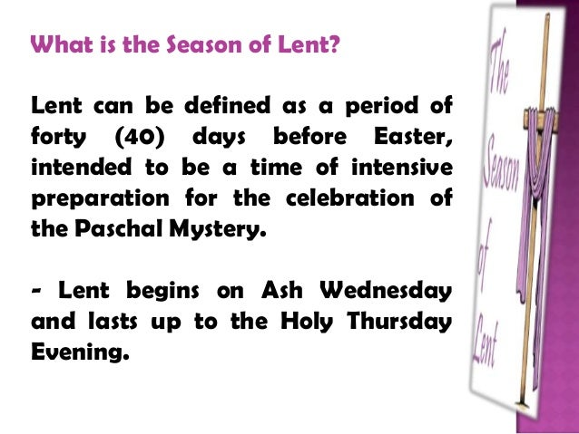 what is the meaning of lent season
