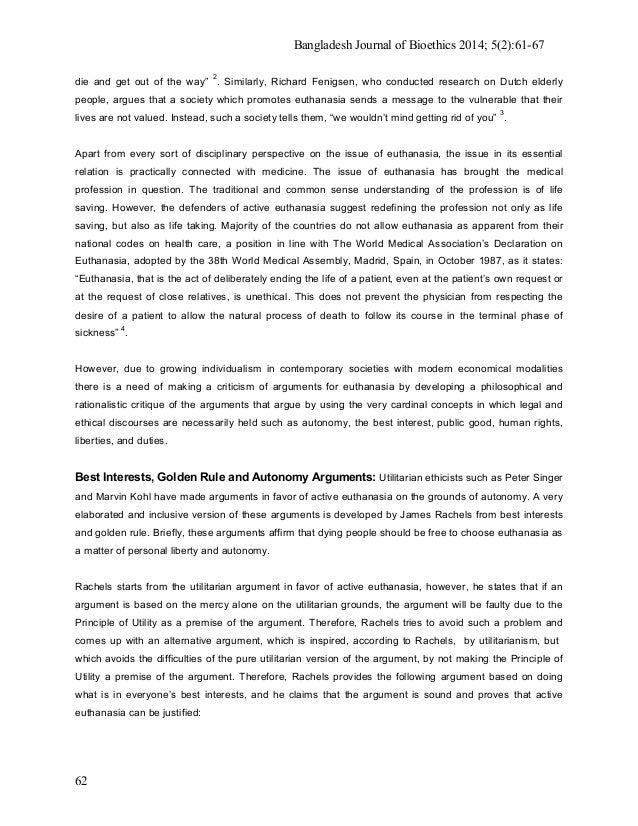 Euthanasia essay topics