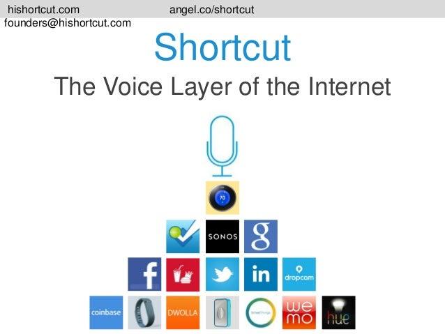 hishortcut.com founders@hishortcut.com  angel.co/shortcut  Shortcut The Voice Layer of the Internet