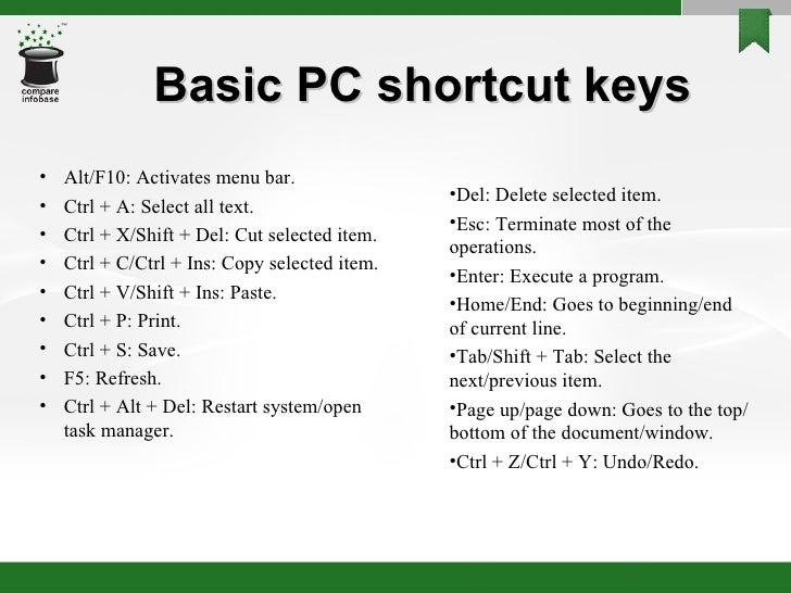 shortcut keys of ms powerpoint 2010 pdf