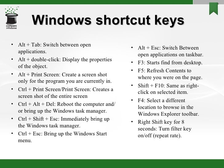 All about shortcut keys 7 windows shortcut ibookread Download