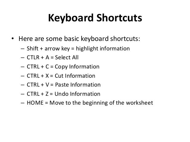 computer key board shortcut
