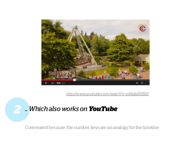 .. Which also works on YouTube2 http://www.youtube.com/watch?v=pNafai5HB1E Convenient because: the number keys are an anal...