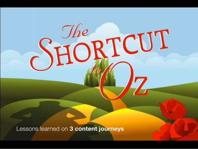 The Shortcut to Oz Lessons Learned on 3 Content Journeys
