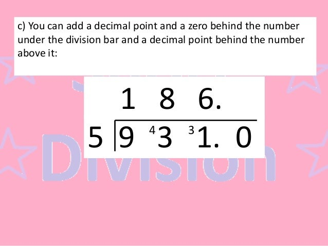 Number Names Worksheets long division with decimal remainders – Long and Short Division Worksheets