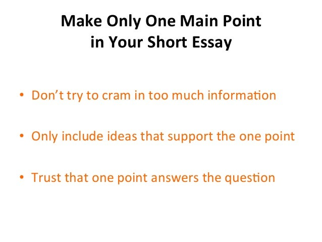 Short essay for college application writing
