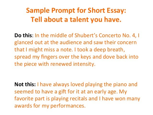 How to write the short essay
