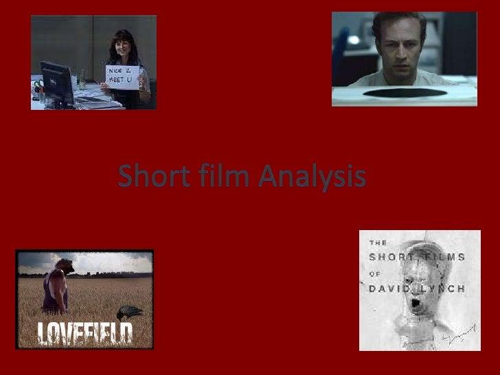 Short film Analysis<br />