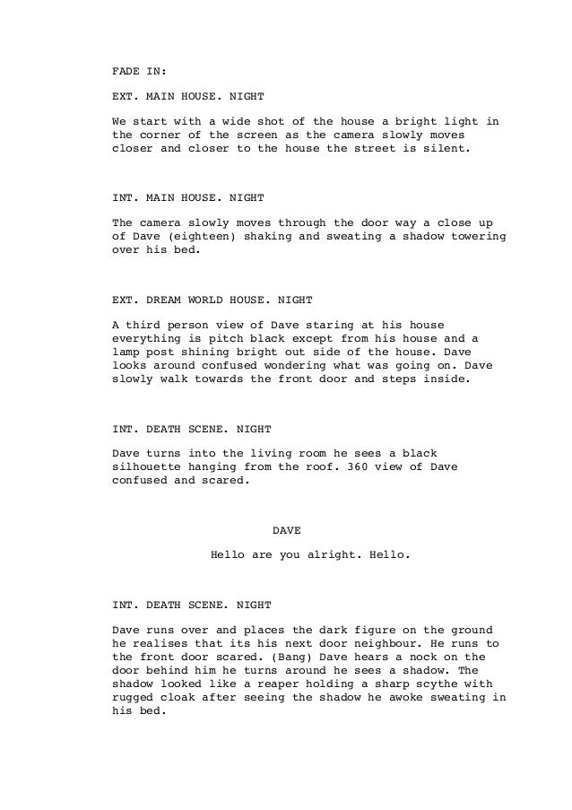 Short film script PDF Slide 2