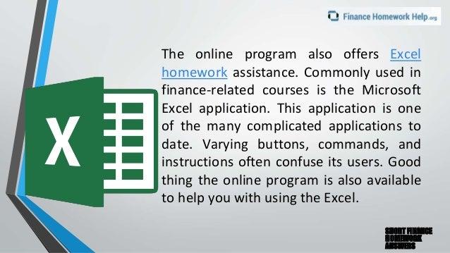 finance homework answers