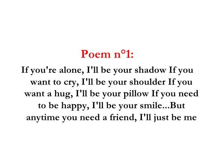 Short Friendship Poems